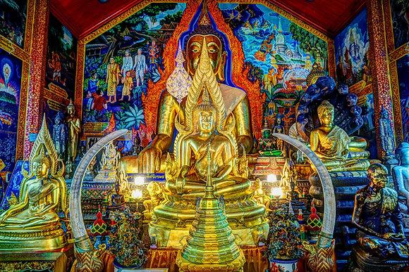 "The Golden Temple 30"" X 40"" Acrylic"