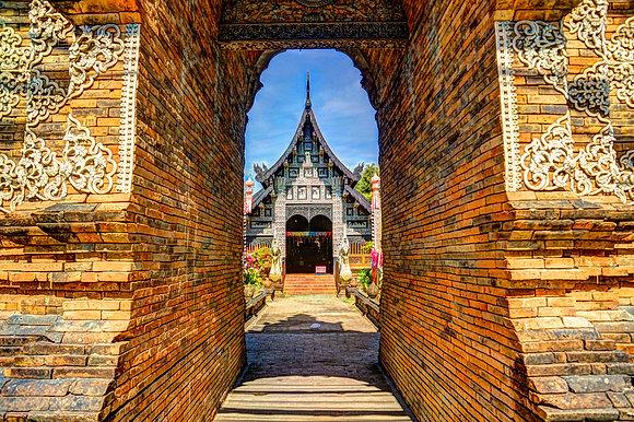 "Chiang Mai Temple 30"" X 40"" Acrylic"