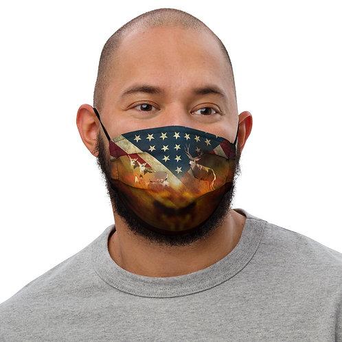 American Flag Mule Deer Face mask