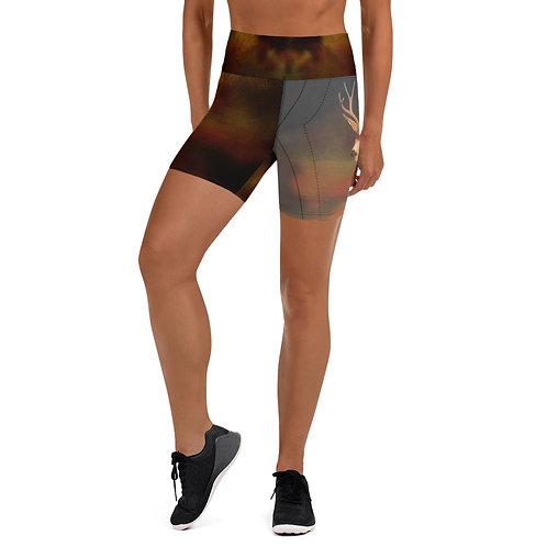 Mule Deer Yoga Shorts