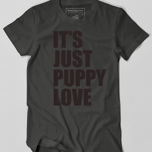 Men's Just Puppy Love T-Shirt (Black)