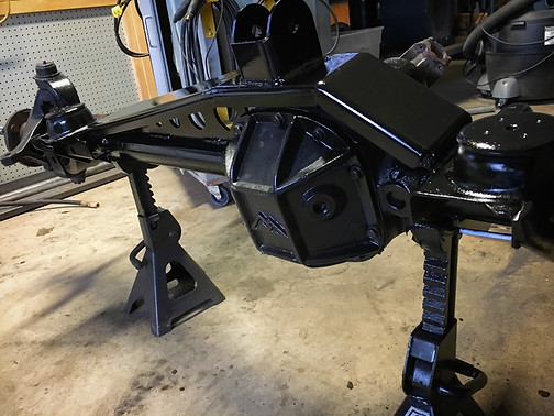 Clayton truss and upper 3 link mount is welded up. We also opted for the HD lower mounts that include a front skid so we know that all the mounts are bomb-proof now!