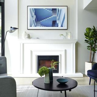 Samsung Frame TV - Above Fireplace.jpg