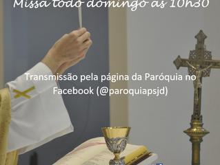 Transmissão Santa Missa - 28/06/2020