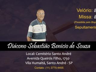"""Diácono Sebastião: """"O Senhor o guarde na sua paz e no seu amor"""""""