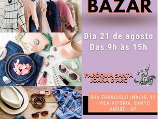 Bazar 21/08 das 9h às 15h!!!