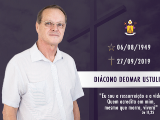 Nota de Falecimento: Diácono Deomar Ustulin