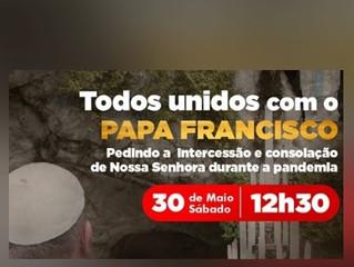 Todos Unidos com o Papa Francisco - Terço ao Vivo