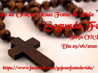Transmissão Terço Online - Grupo de Oração Jesus Fonte da Vida