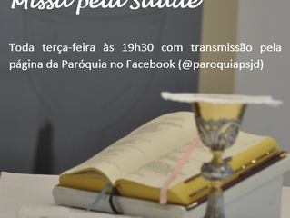 Transmissão Missa pela Saúde - 30/06/2020