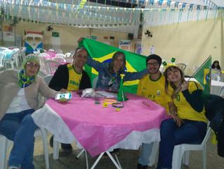 Apesar do resultado, o jogo da seleção brasileira no nosso salão foi muito animado!!!