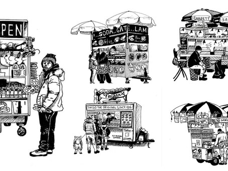 NYC Food Truck Illustrations