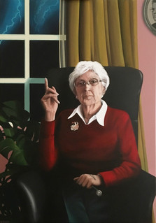 Portrait painting by Marleen Suzanne