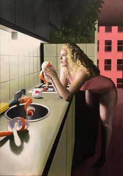 Melancholy with Kitchen Light (Acrylic)