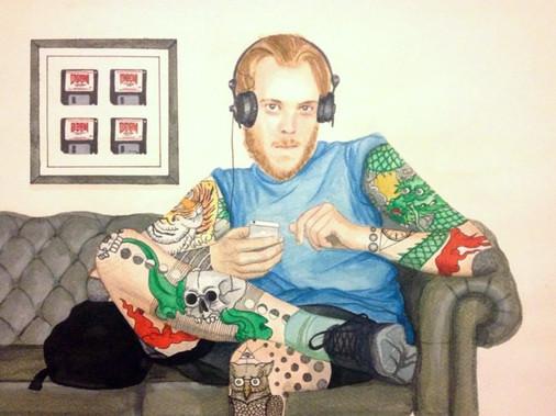 Portrait in watercolor
