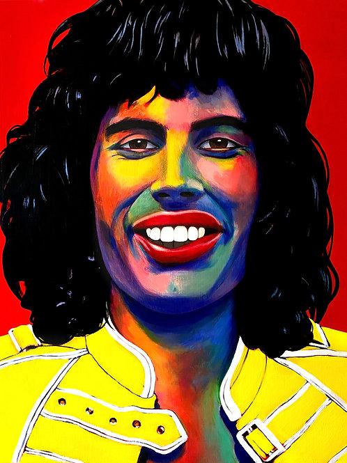 Freddie Mercury. Original painting on canvas.