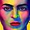 Thumbnail: Frida Kahlo. Original painting on canvas.