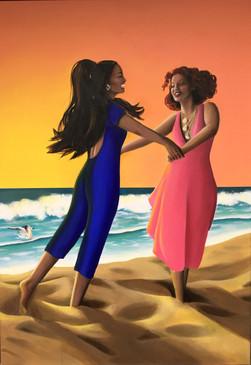 Summer Painting Dancing (Acrylic)