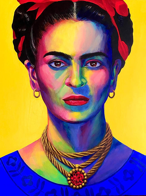Frida Kahlo. Original painting on canvas.
