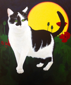 Custom painting of a cat