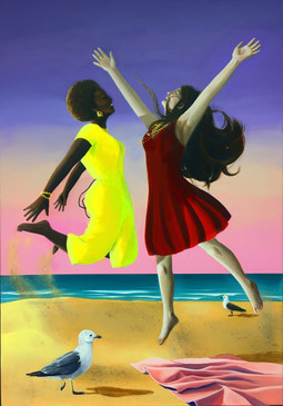 Summer Painting Jumping (Acrylic)