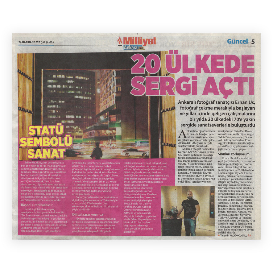 Milliyet Akara - Exhibitions in 20 Count