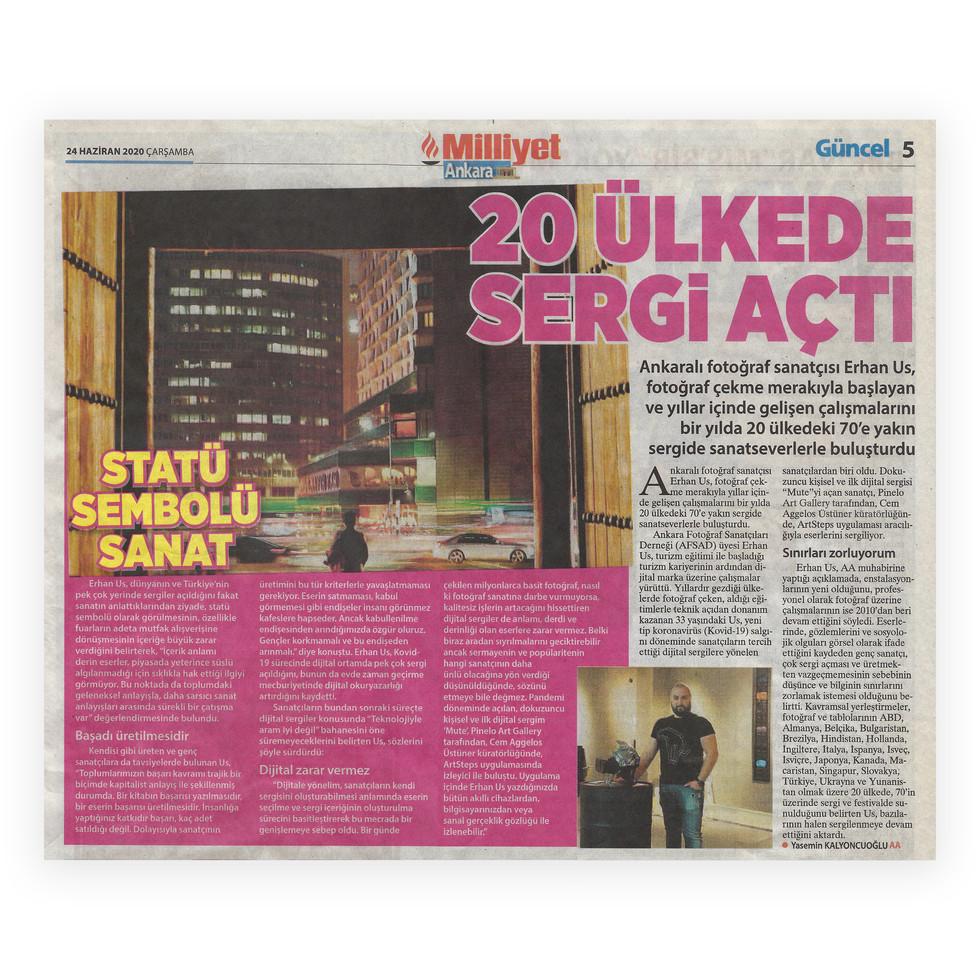 Milliyet Akara - Exhibitions in 20 Count