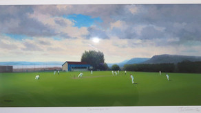 Jack Russell paints Carrickfergus Cricket Club