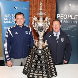 1st XI Captain Iain Parkhill with Club Chairman Jim Nelson