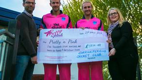 Carrickfergus Cricket Club raises over 5k for Breast Cancer Charity