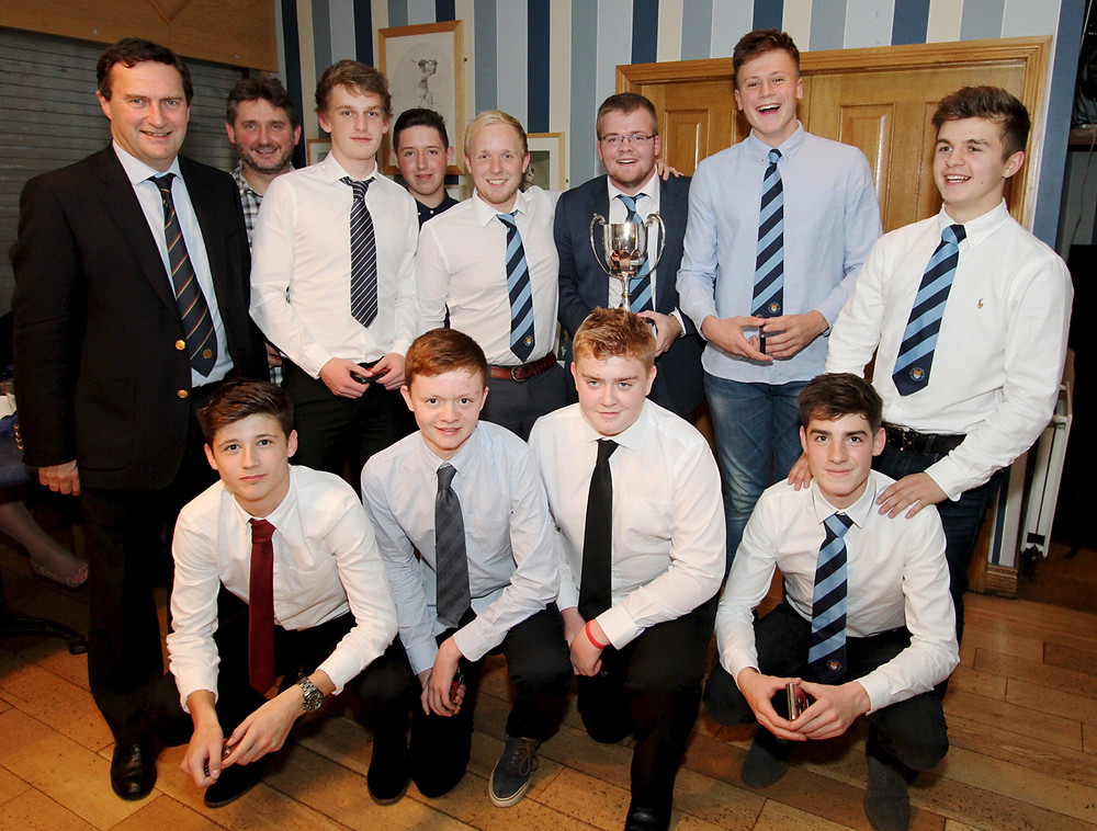 The victorious 4th XI with NCU President Peter McMorran