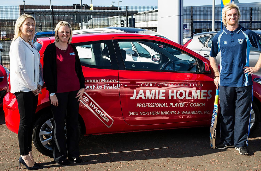 Jamie Holmes receives his car courtesy of Cannon Motors