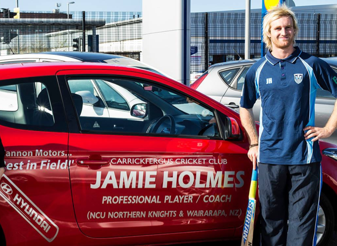 Jamie Holmes will be playing for Carrickfergus in 2016