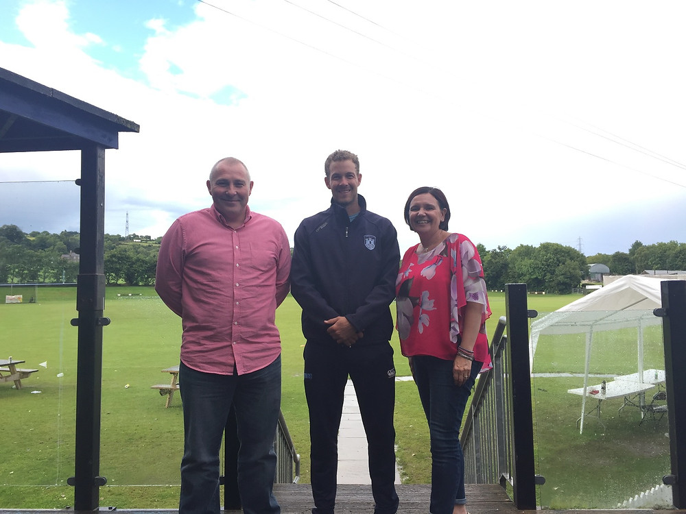 Match Day sponsors Mallusk Auto Centre pictured with 1st XI Captain Patrick Botha