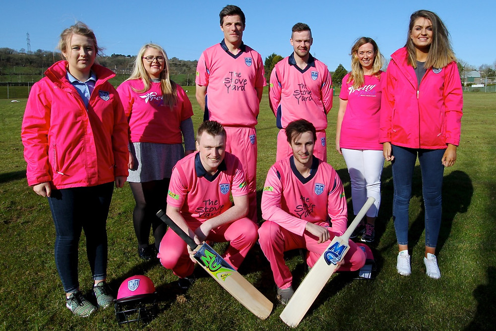 Pictured are Katie Nelson, Jamie Wallace (Pretty 'n' Pink), Ryan Eagleson, Robert Smith, Noeleene Lynn, Jennifer Hood (Competition Winner) Front l-r: Alex Haggan, Michael Gilmour