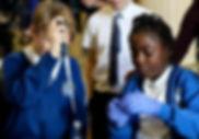 Children doing science experiment