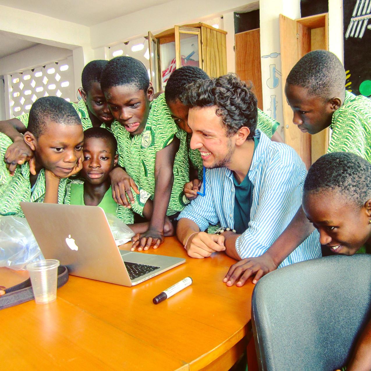 Joe Burton as SIR at Lab_13 Ghana