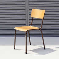 Belgian school chair brown