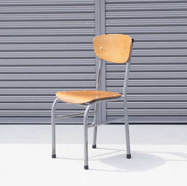 Vintage belgian school chair A