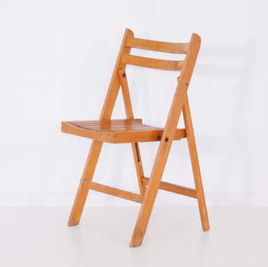 French vintage wood chair