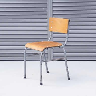 Vintage belgian school chair B