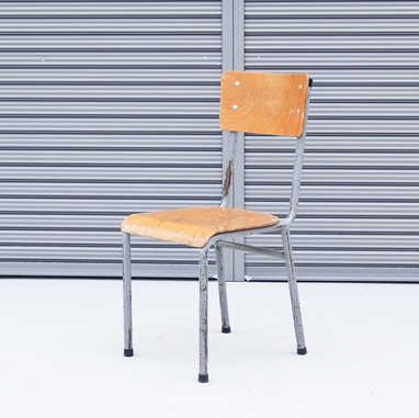 Belgian school chair gray2