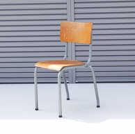 Belgian school chair smoky blue