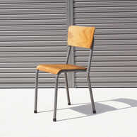 Vintage french school chair