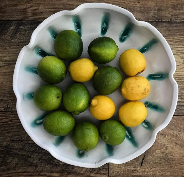 Summer vibes 💚🍋 #pottery #handmadehome
