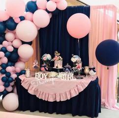 Navy Blue & Pink Gender Reveal