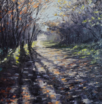 The rail trail between Grosmont and Beck Hole (60x60cms)
