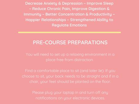 Mindfulness Pre Course Info