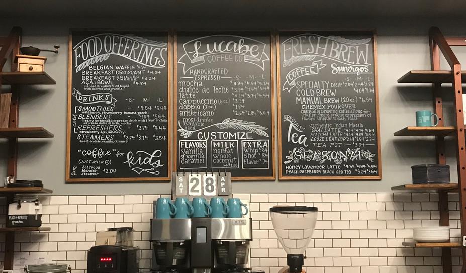 Lucabe Coffee Co, Chalk pen