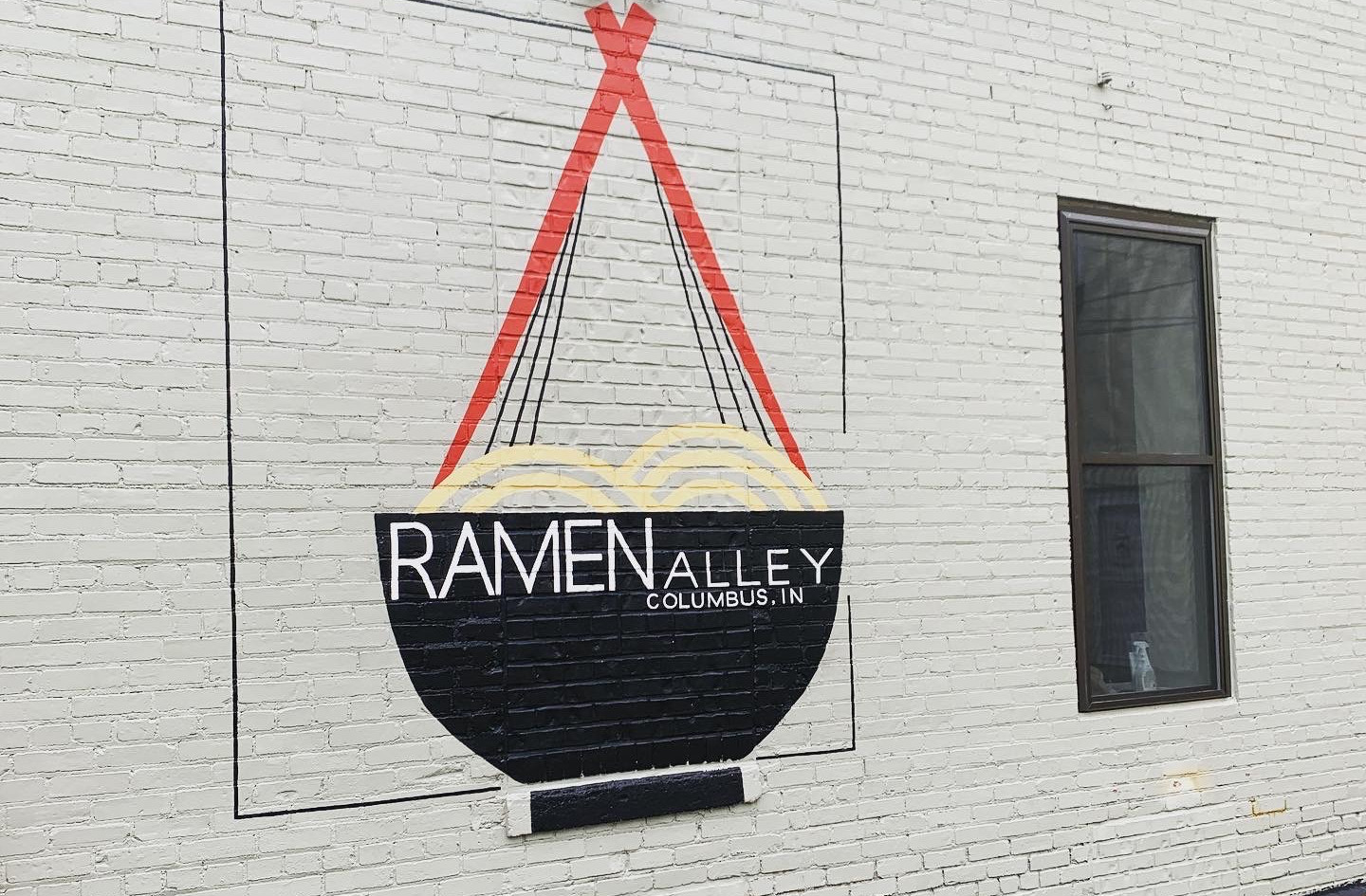 Ramen Alley, Exterior latex